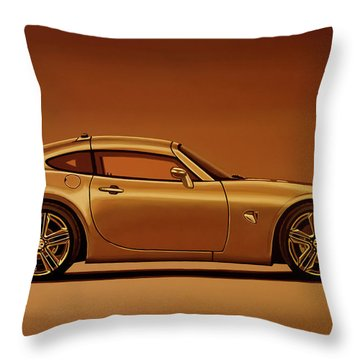 Pontiac Solstice Coupe 2009 Painting Throw Pillow