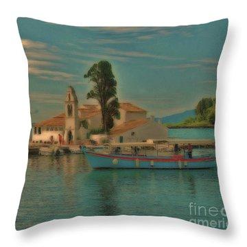 Pontikonisi Corfu Throw Pillow