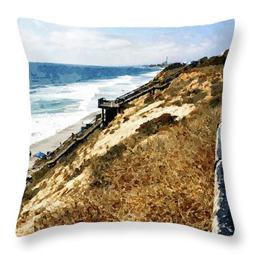 Ponto Beach, Carlsbad Throw Pillow