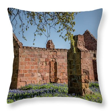Pontotoc Ruins Throw Pillow