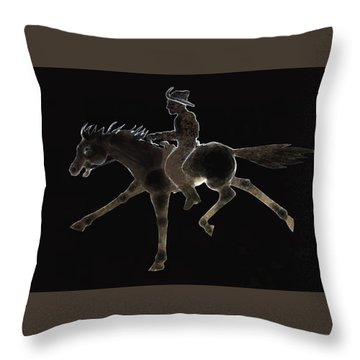 Pony Express Throw Pillow