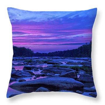Pony Pasture Sunset Throw Pillow