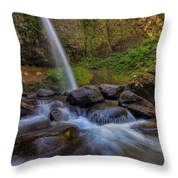 Ponytail Falls Throw Pillow by David Gn