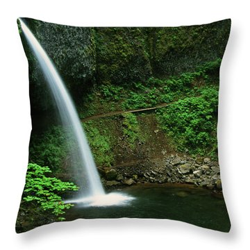 Ponytail Falls-h Throw Pillow