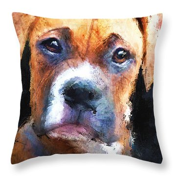 Pooch Throw Pillow by Robert Smith