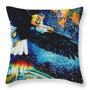 Pooka Hill 5 Throw Pillow by Hanne Lore Koehler