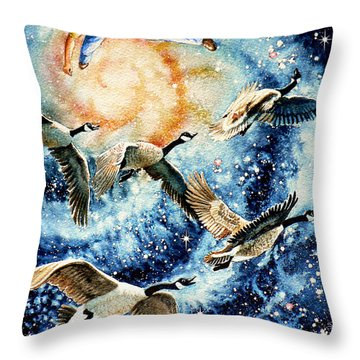 Pooka Hill 9 Throw Pillow by Hanne Lore Koehler