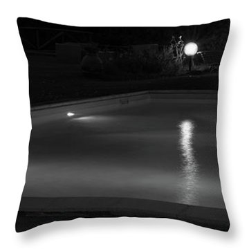 Pool At Night 2 Throw Pillow