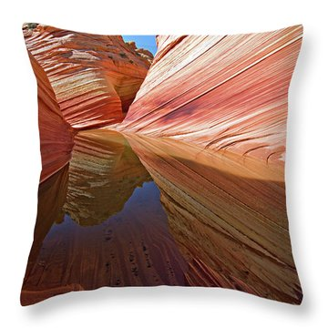 Pool At The Wave Throw Pillow
