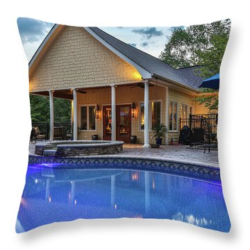Pool House Throw Pillow