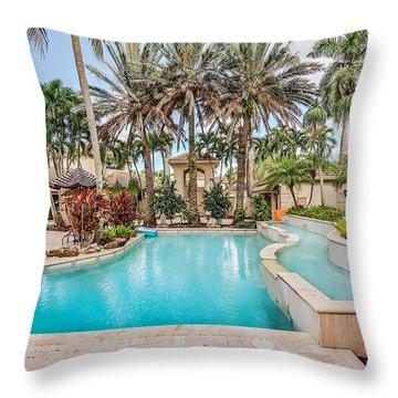 Pool House Throw Pillow
