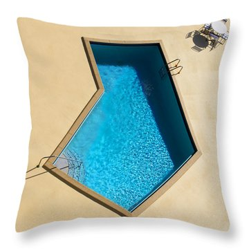 Throw Pillow featuring the photograph Pool Modern by Laura Fasulo