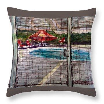 Pool View Throw Pillow