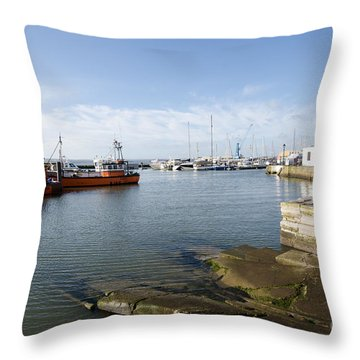 Poole Harbour Throw Pillow