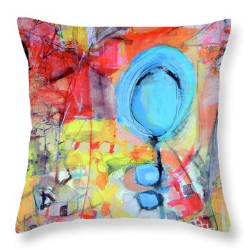Pools Of Calm Throw Pillow