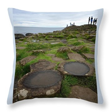 Pools On The Giant's Causeway Throw Pillow