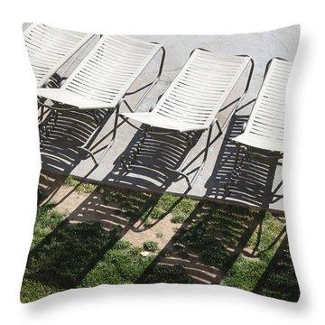 Poolside Throw Pillow by Lauri Novak