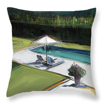 Poolside Throw Pillow
