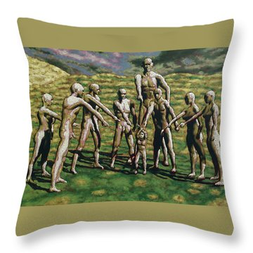 Poor Judgement Throw Pillow by Leo Mazzeo