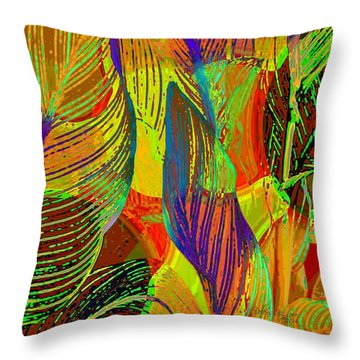 Pop Art Cannas Throw Pillow