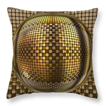 Pop Art Circles Throw Pillow