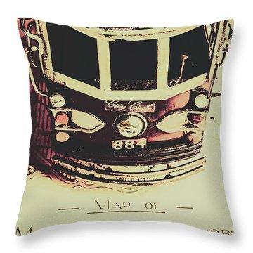 Pop Art City Tours Throw Pillow