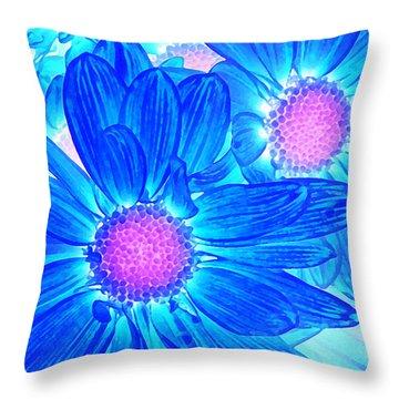 Pop Art Daisies 6 Throw Pillow