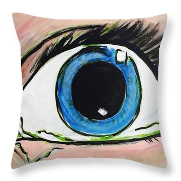 Pop Art Eye Throw Pillow