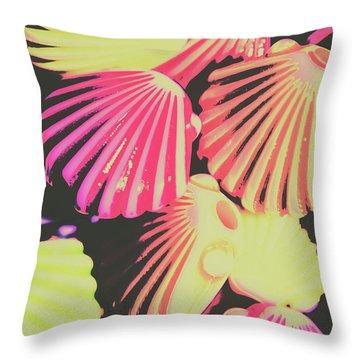 Pop Art From Fluorescent Beach Throw Pillow