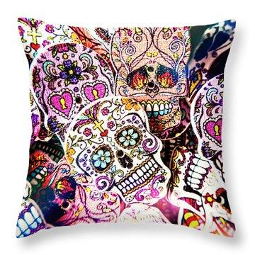 Pop Art Horrors Throw Pillow