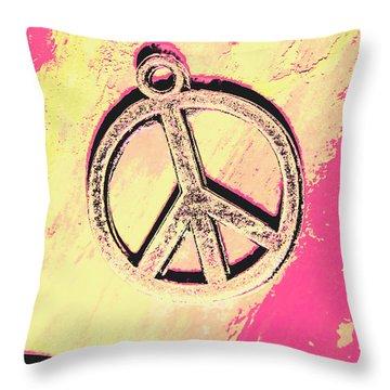 Pop Art In Peace Throw Pillow