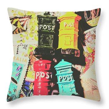 Pop Art In Post Throw Pillow