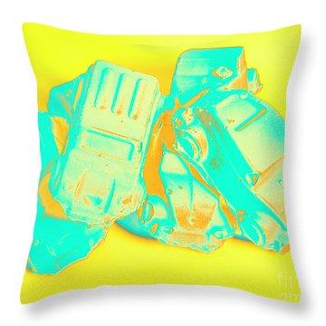 Pop Art Pileup Throw Pillow