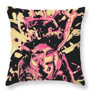 Pop Art Poster Heart Throw Pillow
