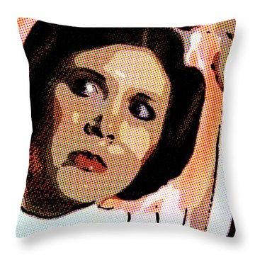 Pop Art Princess Leia Organa Throw Pillow