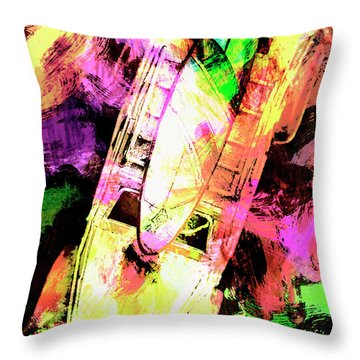Pop Art Surf Cars And Painted Waves Throw Pillow