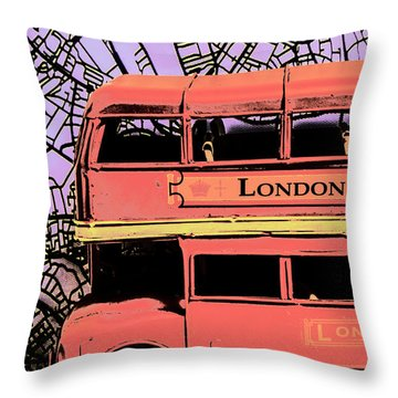 Pop Art Uk Throw Pillow
