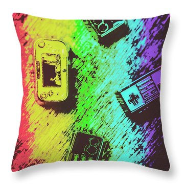 Pop Art Video Games Throw Pillow