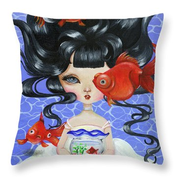 Pop-eyed Goldfish Throw Pillow