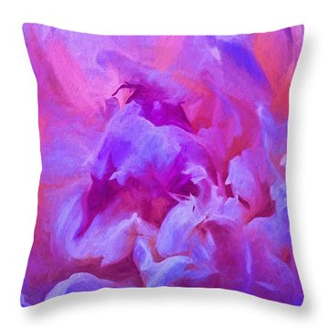 Pop Pink Peony Throw Pillow