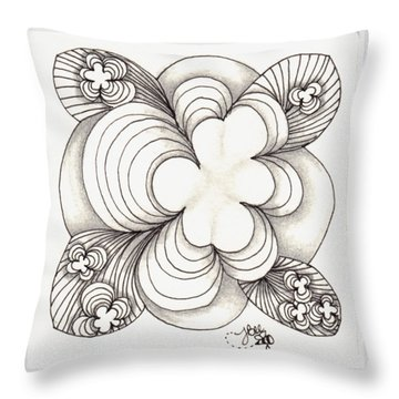 Popcloud Blossom Throw Pillow