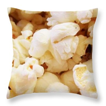Popcorn 2 Throw Pillow by Martin Cline