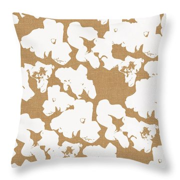 Popcorn- Art By Linda Woods Throw Pillow by Linda Woods