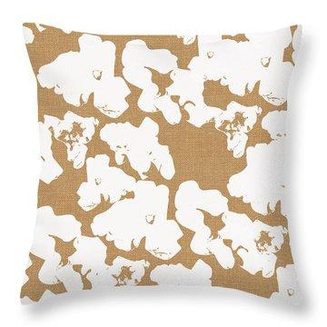 Popcorn- Art By Linda Woods Throw Pillow by Linda Woods