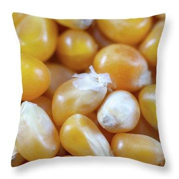 Popcorn Kernels Throw Pillow