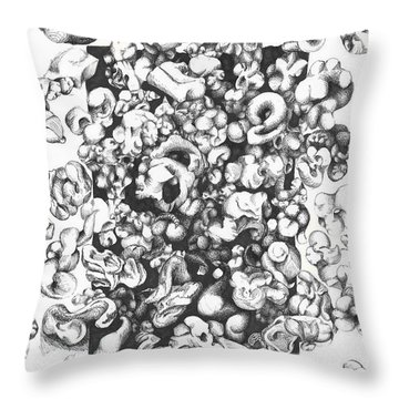 Popcorn Throw Pillow by Melinda Dare Benfield