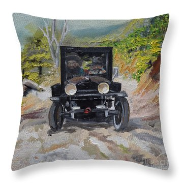 Popcorn Sutton - Looking For Likker Throw Pillow