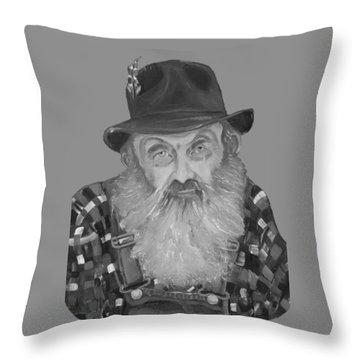 Popcorn Sutton Moonshiner Bust - T-shirt Transparent B And  W Throw Pillow