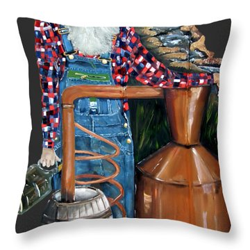 Popcorn Sutton Moonshiner -t-shirt Transparrent Throw Pillow