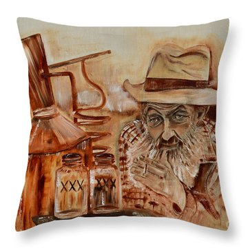 Popcorn Sutton - Waiting On Shine Throw Pillow